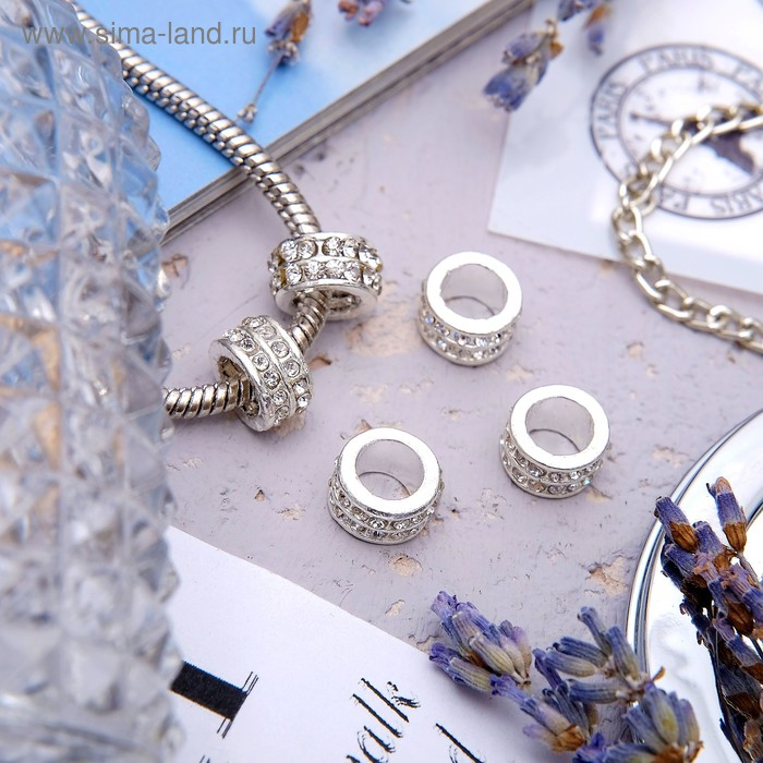 Разделитель 5055-2, цвет белый в серебре