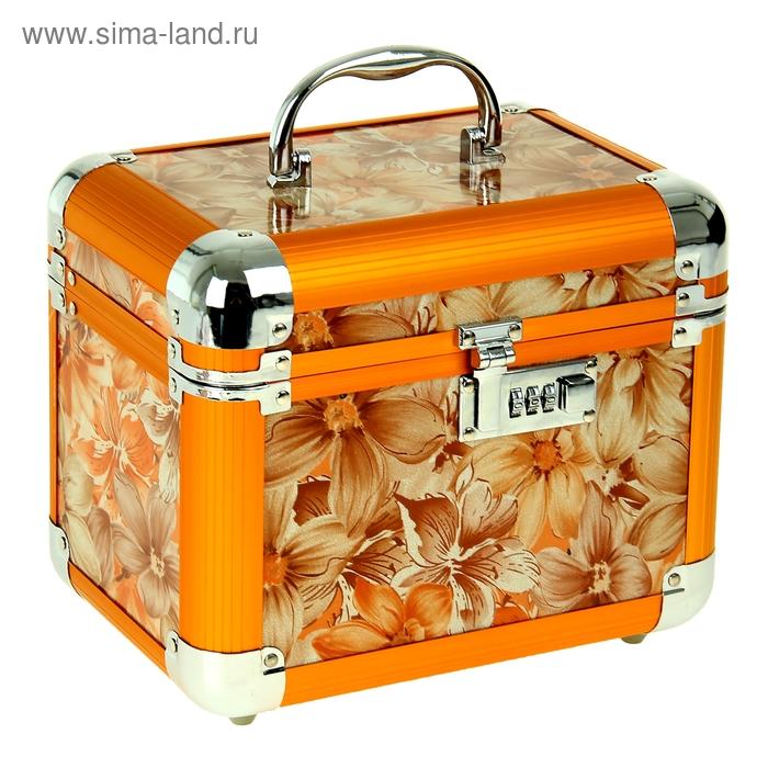 "Шкатулка ""Оранжевые цветы"""