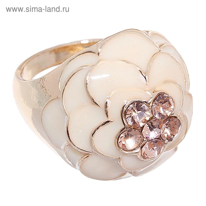 "Кольцо ""Цветок"" объёмная розочка, цвет золото, размер МИКС"