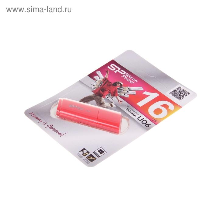 USB-флешка Silicon Power 16Gb Ultima U06 USB 2.0, розовая