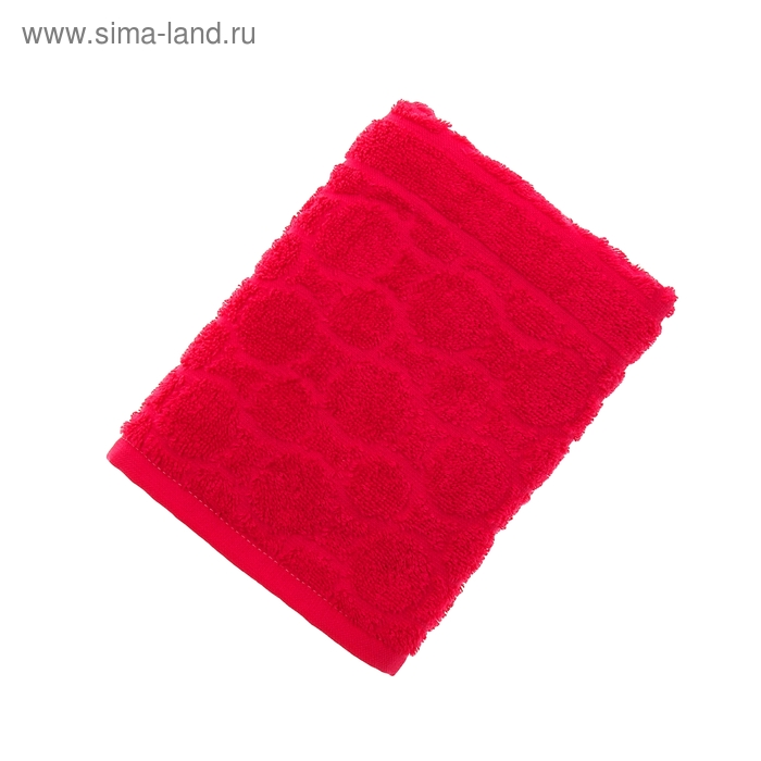 Полотенце махровое жаккард Opticum 50х90 см, цв 31 красный, хл.100% 360 гр/м