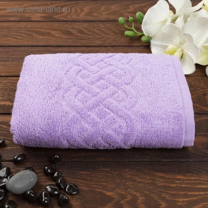 Полотенце махровое жаккард Plait, размер 50х90 см, 360 гр/м2, цвет фиолетовый