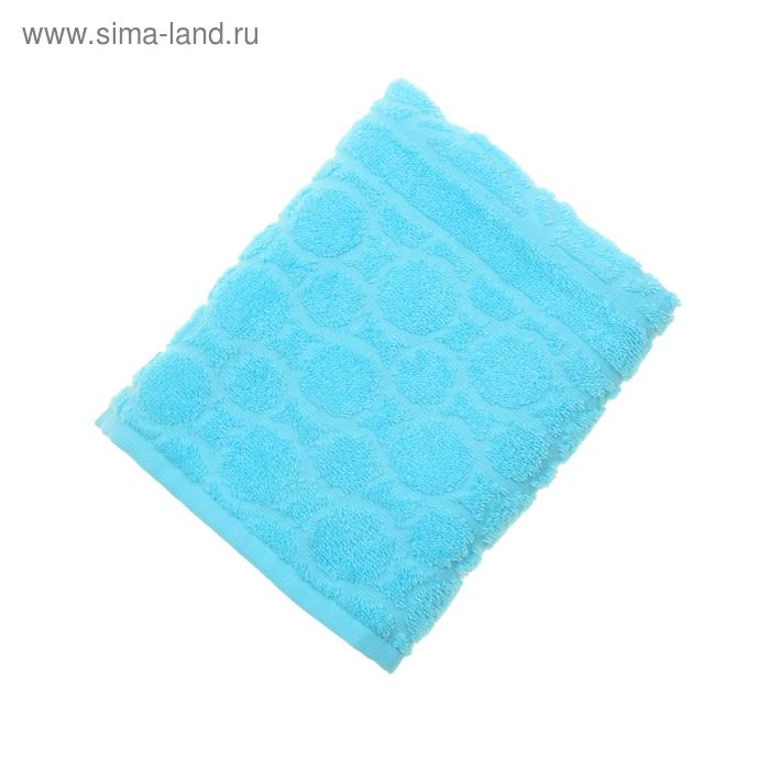 Полотенце махровое жаккард Opticum, размер 50х90 см, 360 гр/м2, цвет бирюзовый