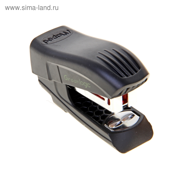 Степлер №26/6 15 листов Maped mini Greenlogic пластик корпус черный антистеплер