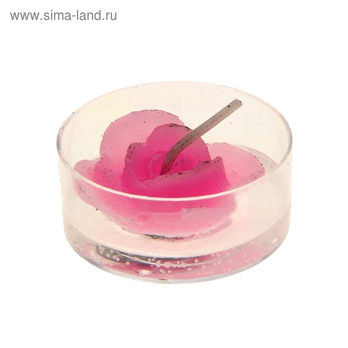 """Свеча гелевая """"Цветочек"""", цвет розовый"""