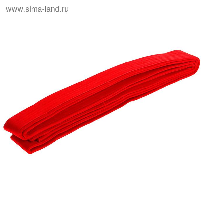 Пояс для единоборств 3,5 м, цвет красный