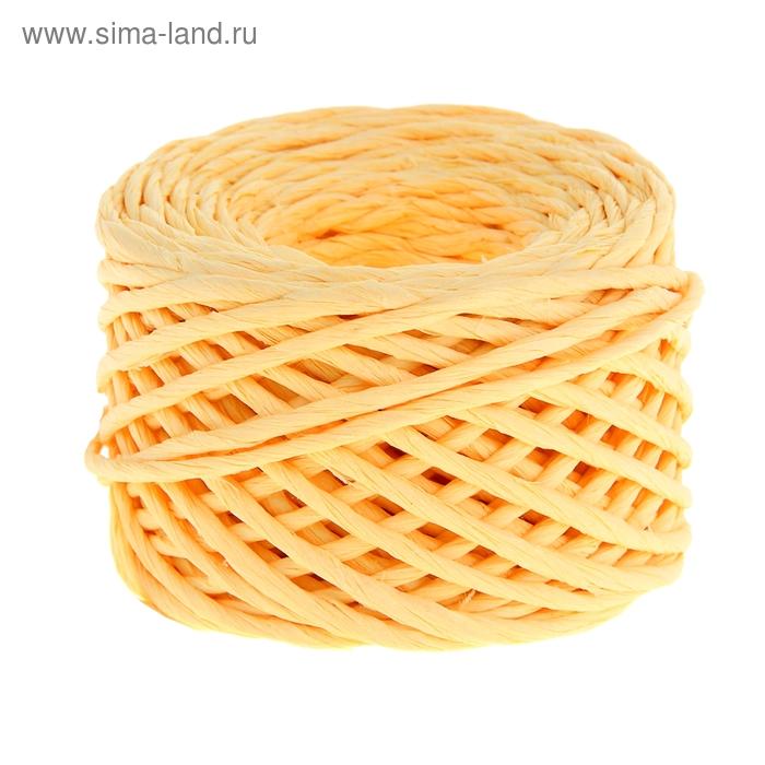 Шпагат декоративный, цвет светло-жёлтый