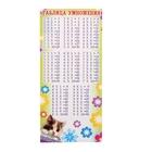 Мини-таблица умножения, с расписанием на обороте, котенок