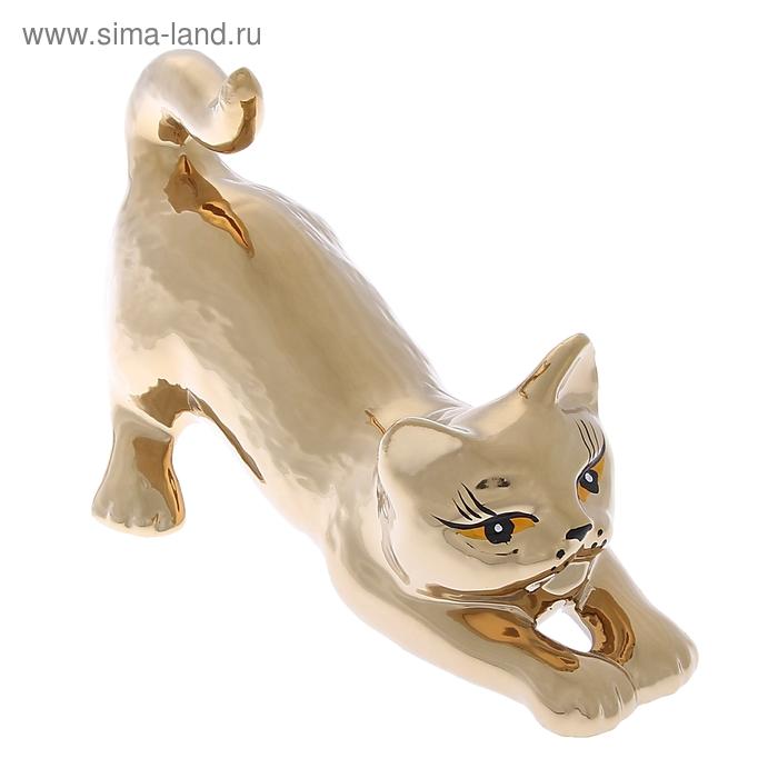 """Сувенир """"Кошка Цаца"""" булат, золото"""
