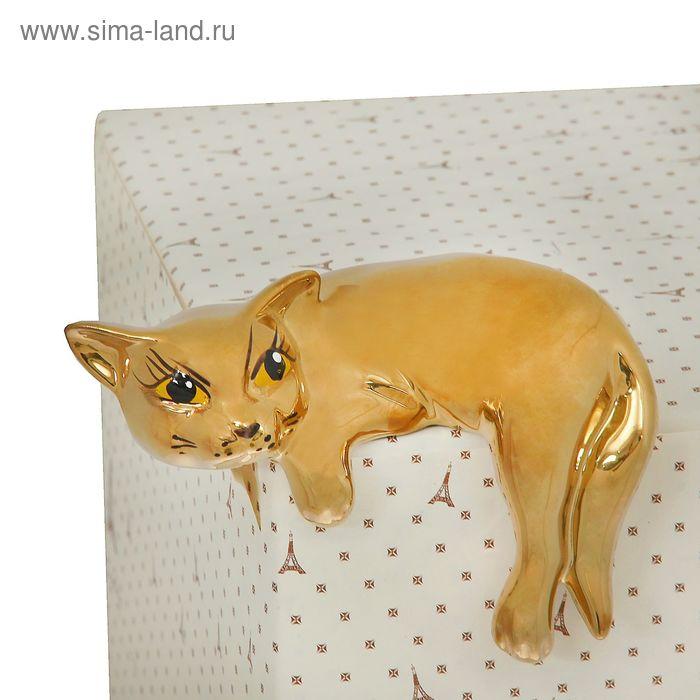 """Сувенир """"Кот ленивец"""" булат, золото"""