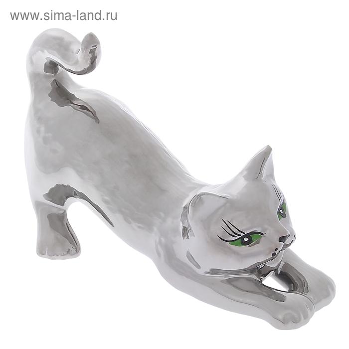 """Сувенир """"Кошка Цаца"""" булат, серебро"""