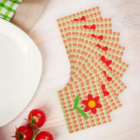 """Салфетки бумажные """"Ромашка"""", набор 20 шт., 33 × 33 см"""