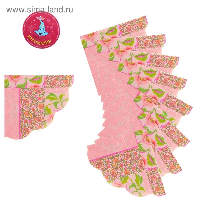 """Салфетки бумажные (набор 20 шт) """"Цветы"""", 33*33 см"""