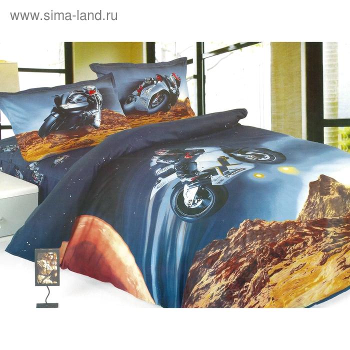 """Постельное бельё """"Этелька 3Д"""" 1,5 сп., Спидвей, размер 155х205 см, 160х210 см, 50х70 см, 100% хлопок, сатин"""