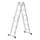 Лестница шарнирная TUNDRA comfort, 4х3 ступеней, алюминиевая