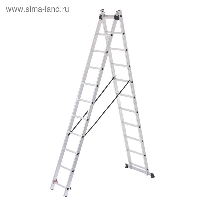 Лестница двухсекционная TUNDRA comfort, 3 м, алюминиевая