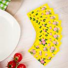 """Салфетки бумажные """"Букеты роз"""", набор 20 шт., 33 × 33 см, цвет жёлтый"""