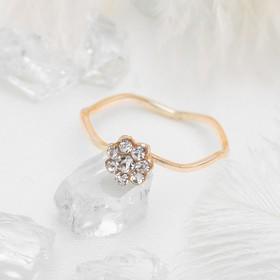 Кольцо 'Классика', цвет белый в золоте, размер 17,18,19 МИКС Ош