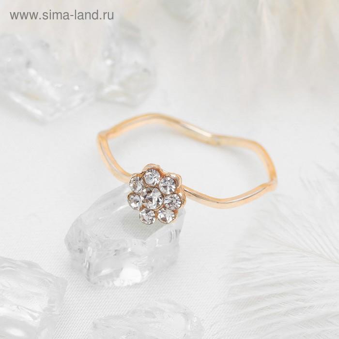 """Кольцо """"Классика"""", цвет белый в золоте, размер 17,18,19 МИКС"""