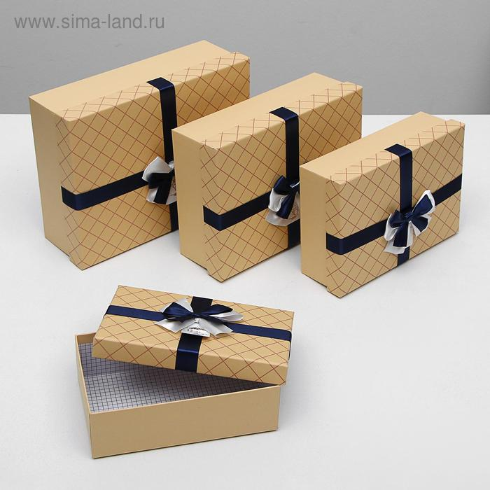 "Набор коробок 4в1 крафт ""Сетка"""