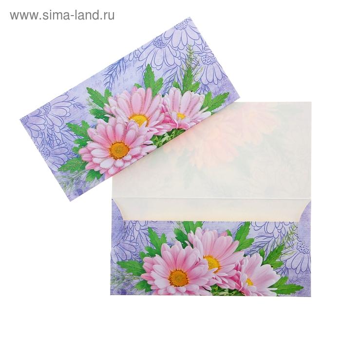 Конверт для денег универсальный, розовые цветы   1055369