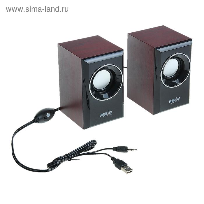 "Портативные колонки ""Стиль"", AUX, microSD, 2 шт"