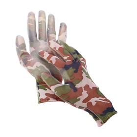 Перчатки нейлоновые, с латексной пропиткой, размер 9, цвет МИКС Ош