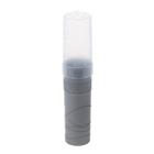 Пенал тубус пластиковый 45х195 мм Стамм, серый металлик Silver