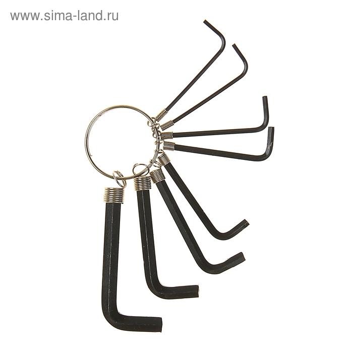 Набор ключей шестигранников TUNDRA basic, 1.5 - 6 мм 8 штук на кольце