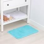 """Коврик для ванной """"Пушистик"""", цвет лазурный"""