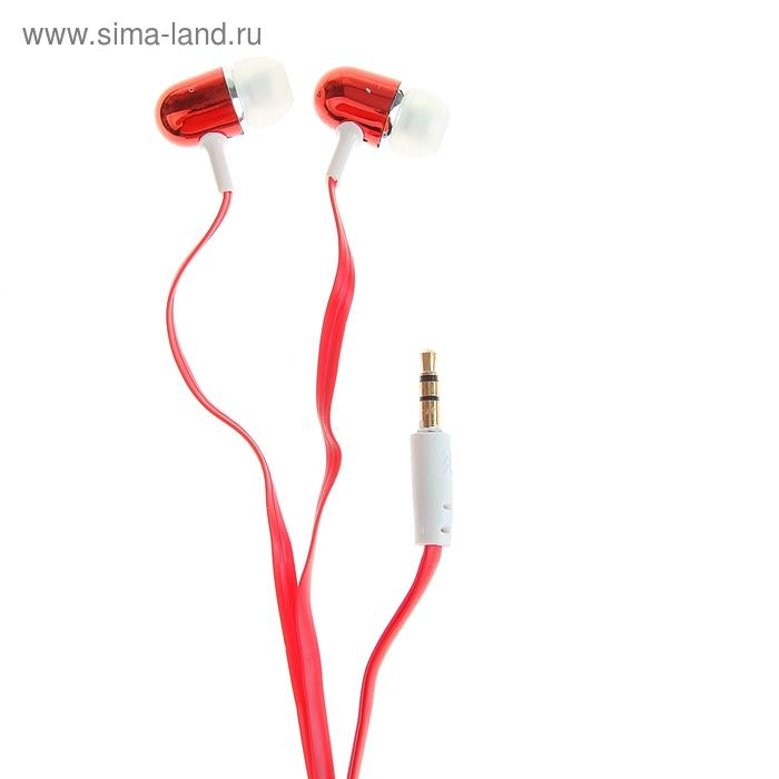 Наушники Luazon вставные вакуумные Extra bass-1, красные
