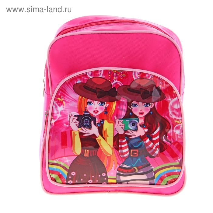 """Рюкзак детский """"Фото"""", 1 отдел, 1 наружный карман, цвет розовый"""