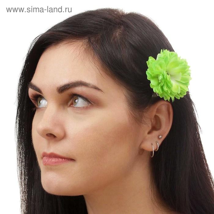 """Зажим """"Георгин"""", цвет зеленый"""