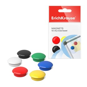 Магниты для досок 20 мм 12 штук Erich Krause 22460