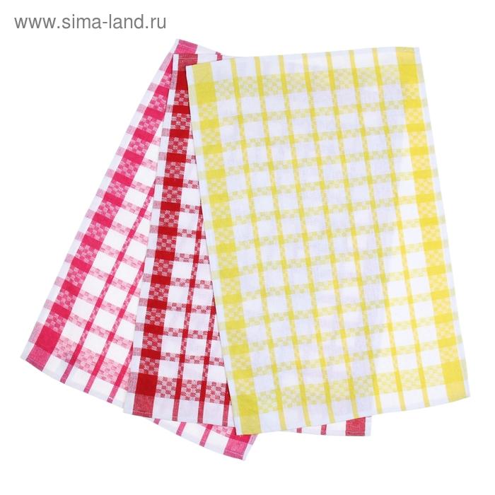 Набор кухонных полотенец Ninelle 3шт 40*60см, крас/жел/роз, KTS-13, хл.100%