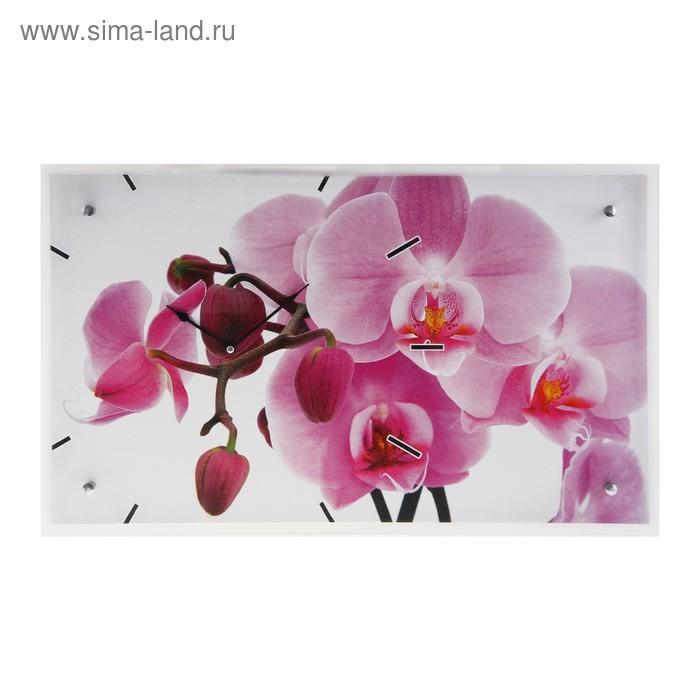 """Часы настенные прямоугольные """"Орхидея"""", 35х60 см"""