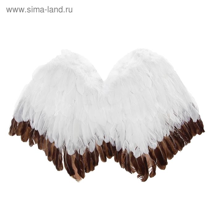 Карнавальные крылья ангела, цвет черно-белый
