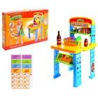 """Игровой набор """"Торговая лавка"""" с корзиной, 2 варианта сборки, 14 предметов, БОНУС - аксессуары для игры, высота 70 см"""