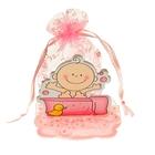 """Бонбоньерка """"Малыш в ванной"""", цвет розовый"""