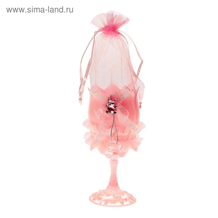 """Бонбоньерка """"Бокал"""", цвет розовый"""