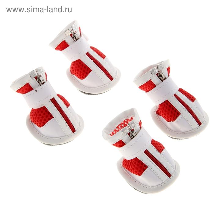 Ботинки Чемпион, набор 4 шт, размер 3 (подошва 6 х 5 см), бело-красные