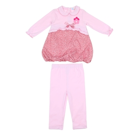 Комплект для девочки: кофта с цветком, леггинсы, рост 68-74 см (6-9 мес.), цвет микс 9001NC1738