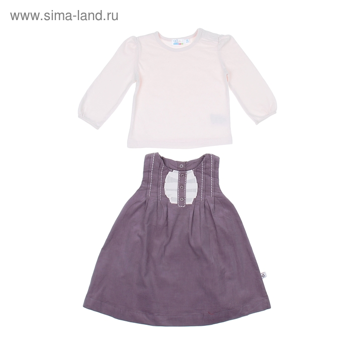 Комплект для девочки: кофта, сарафан с жабо, рост 92-98 см (18-24 мес.) 1A28NG0163