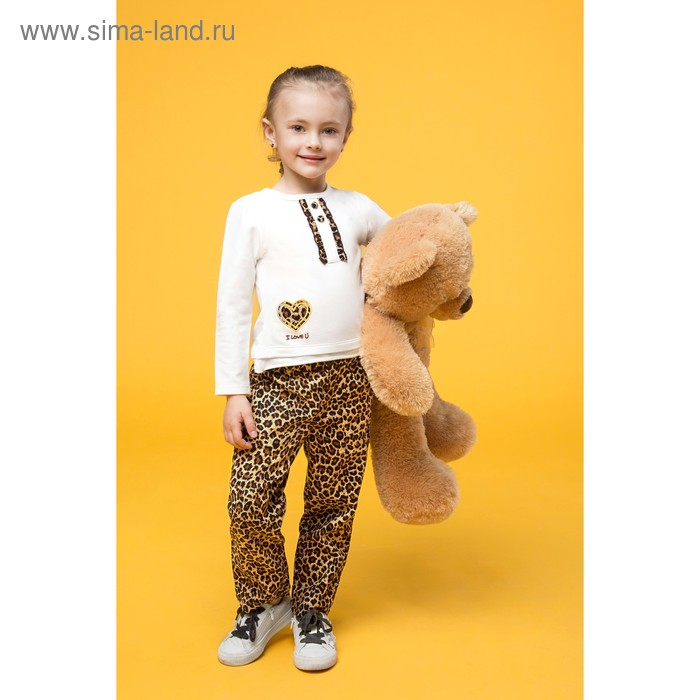 "Комплект для девочки ""Я люблю тебя"": кофта, штанишки, рост 110-116 см (5-6л.), цвет микс 9077CC1483"