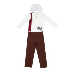 """Комплект для мальчика """"Лесные звери"""": кофта, брюки, рост 110-116 см (5-6л.), цвет микс 9199CD1603"""