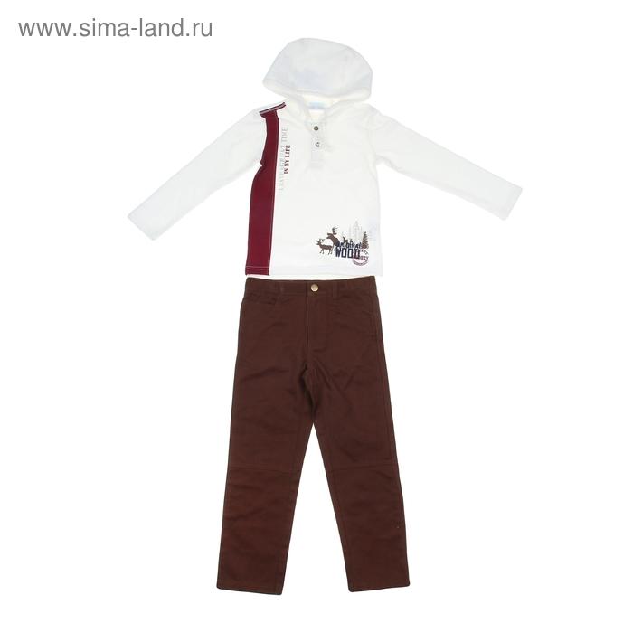 """Комплект для мальчика """"Лесные звери"""": кофта, брюки, рост 104-110 см (4-5л.), цвет микс 9199CD1603"""