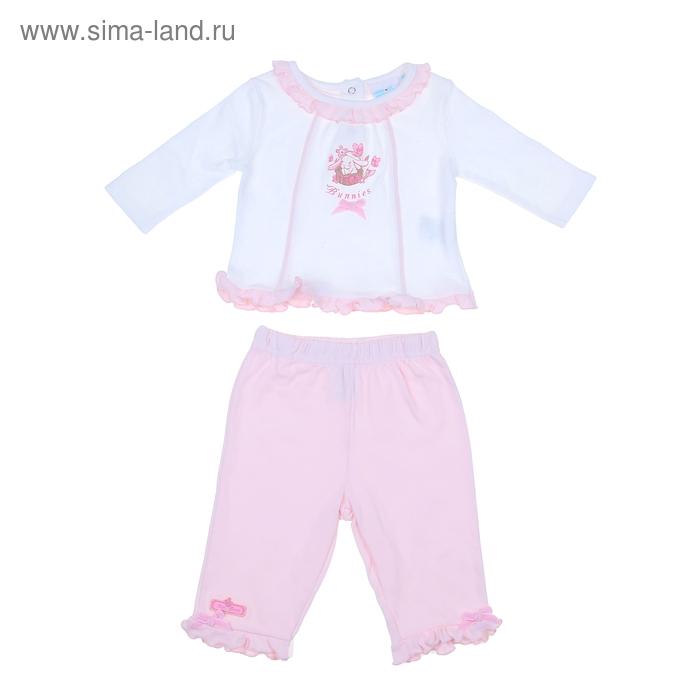 """Комплект для девочки """"Кролик"""": кофта, штанишки, рост 62-68 см (3-6 мес.), цвет микс 9199NC1643"""