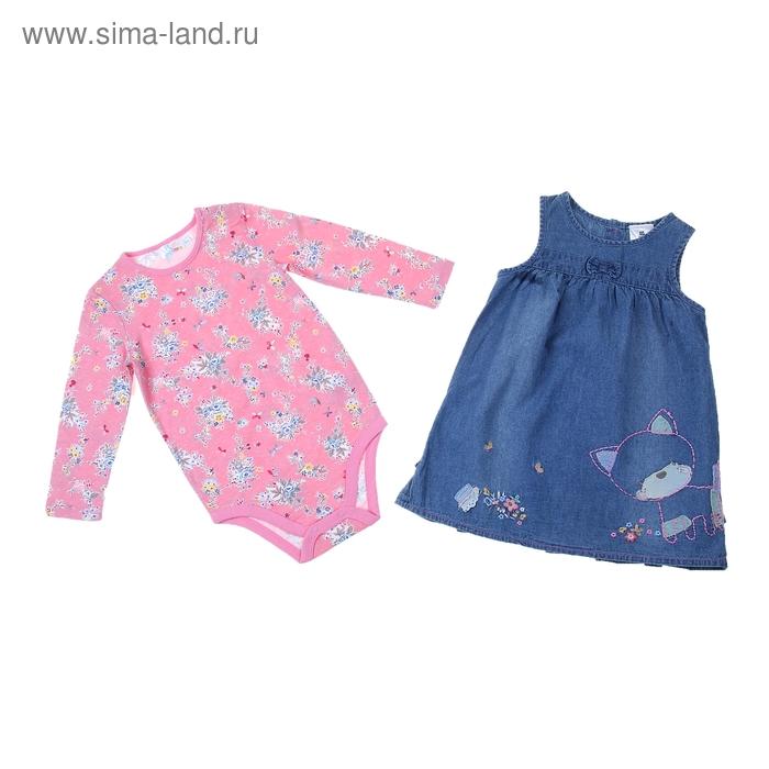 Комплект для девочки: боди, сарафан 9122IG0378 24-36 м (рост 92-98 см)