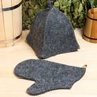 Набор для бани и сауны «Универсальный»: шапка, рукавица, комбинированный