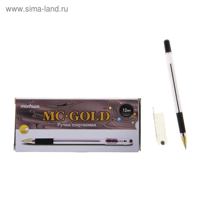 Ручка шариковая MunHwa MC Gold, стержень черный, узел 0.5 мм, грип